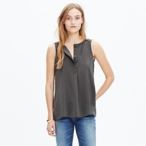 Made well | Gray Composition Silk Blouse Size S